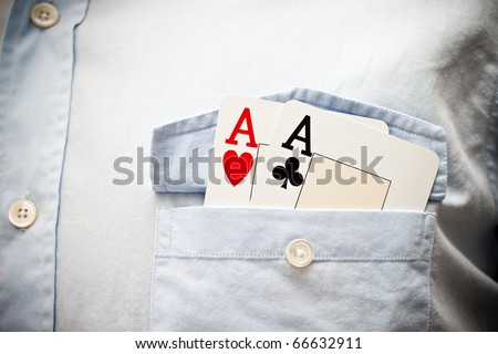 Pair of aces in pocket