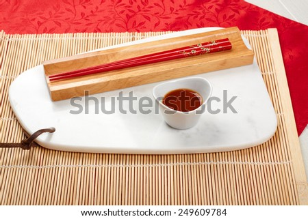 Pair of chopsticks - stock photo