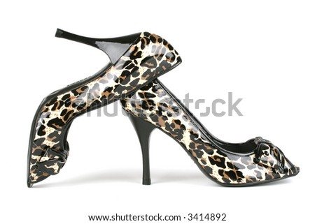 pair of expensive, classy high heels - stock photo