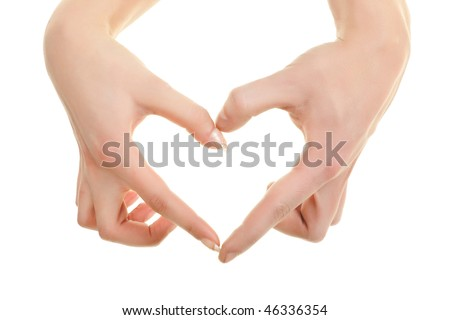 Pair of hands showing heart sign