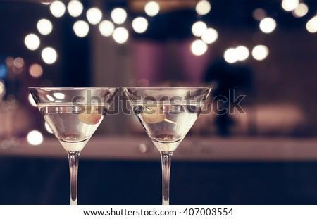 Pair of martini drinks.  - stock photo
