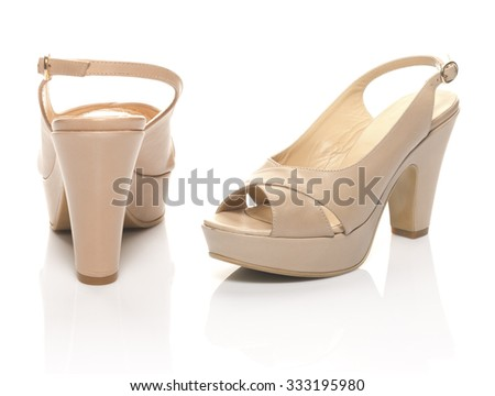 pair of sandals for woman - stock photo