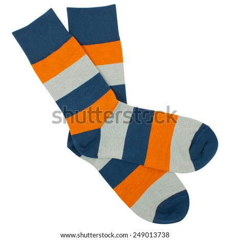 Pair of socks. Isolated on a white background - stock photo
