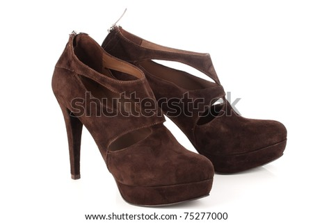 pair of womens shoes - stock photo