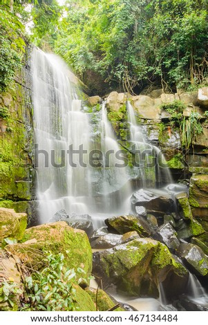 Paisitong waterfall(golden bamboo waterfall),new natural tourist attraction in Phitsanulok Thailand.