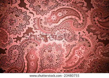 Paisley Grunge Background - stock photo