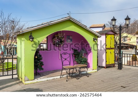 PAJU - March 06: La Provence Village, Colorful sights in south of French style March 6, 2014 Paju, South Korea. - stock photo