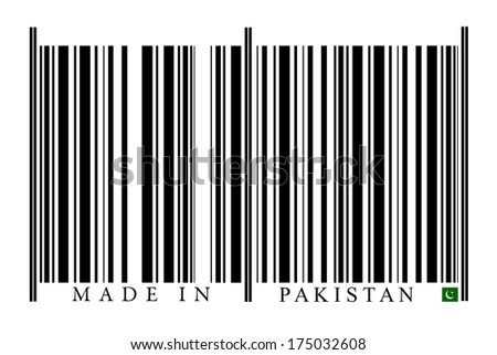 Pakistan Barcode on white background
