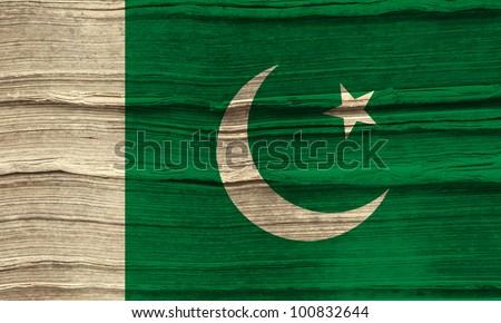 Pakistan grunge flag background - stock photo