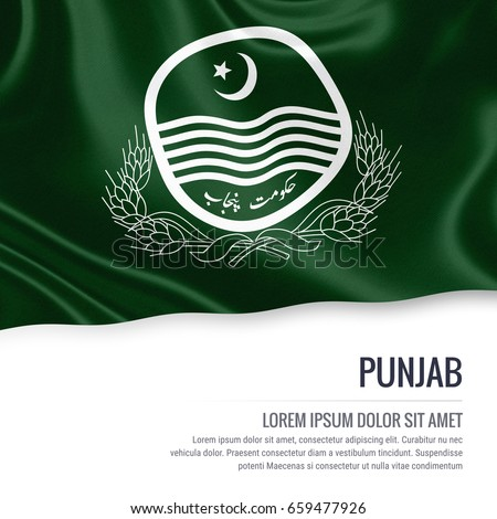 Pakistan State Punjab Flag Waving On Stock Illustration 659477926