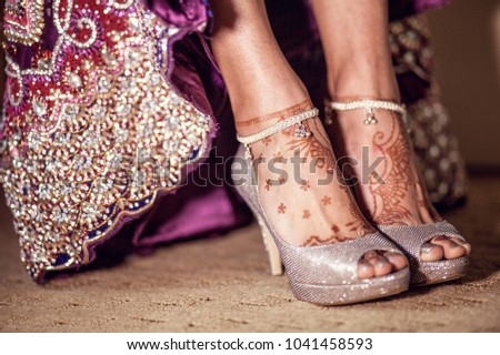 Bridal Mehndi On Foot : Pakistani indian bridal mehndi design feet stock photo royalty