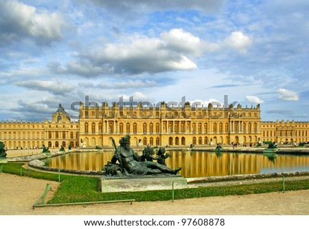 Palace de Versailles, France, UNESCO World Heritage Site - stock photo