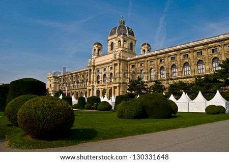 palace housing the Old museum in Vienna