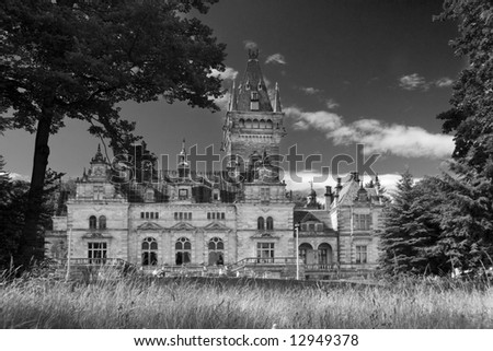 Palace Hummelshain - stock photo