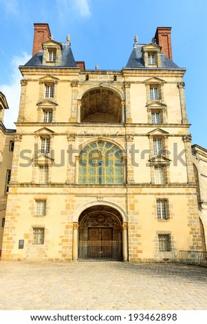 Palace in Fontainebleau, France - stock photo
