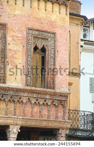Palace in Piazza Sordello  The historic city center of Mantova Lombardy (Italy)