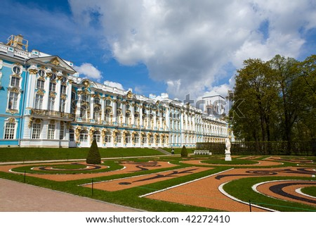 Palace in the city of Pavlovsk, Russia