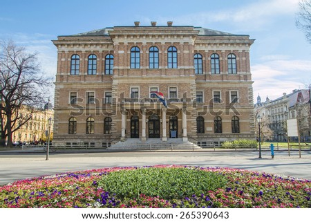 Palace of Croatian Academy of Sciences and Arts, Zagreb, Croatia