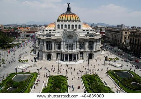 Palace of Fine Arts, Mexico City, Mexico - stock photo