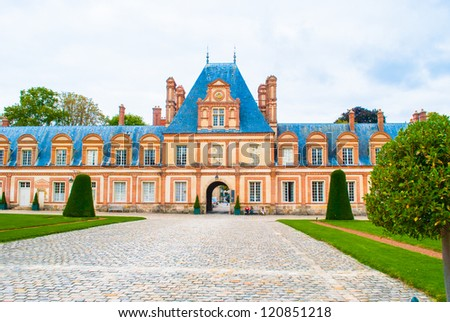 Palace of Fontainebleau - stock photo