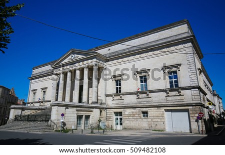 Palace of Justice in Angouleme, capital of the Charente department in France.
