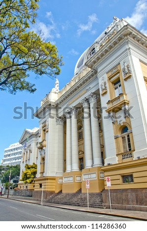 Palace of justice - Recife - Pernambuco - Brazil - stock photo