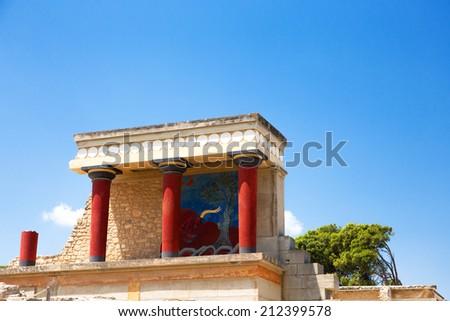 Palace of Knossos - stock photo