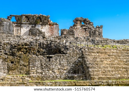 Palace of Palenque, was a pre-Columbian Maya civilization of Mesoamerica. Known as Lakamha (Big Water). UNESCO World Heritage