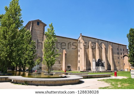 Palace of Pilotta. Parma. Emilia-Romagna. Italy. - stock photo