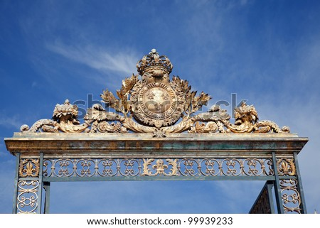 Palace of Versailles near Paris, detail, exterior,