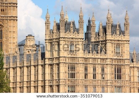 Palace of Westminster in London, United Kingdom.
