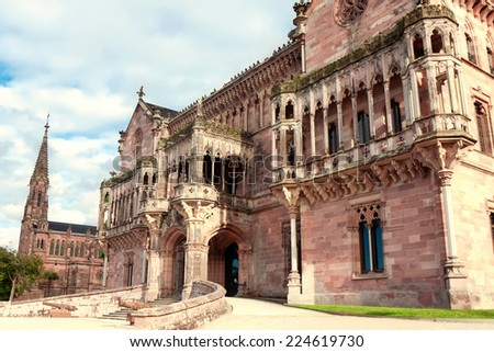 Palace Sobrellano, Comillas, Cantabria, Spine - stock photo