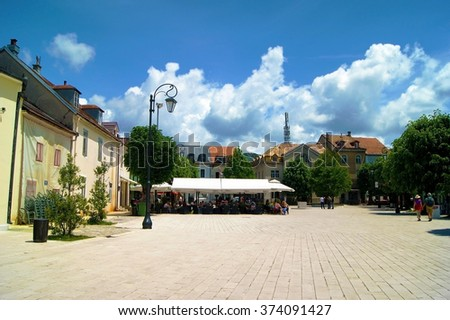 Palace Square in Cetinje