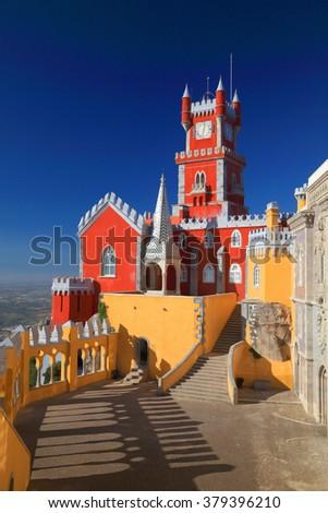 Palacio da Pena - Sintra, Lisboa, Portugal, Europe - stock photo