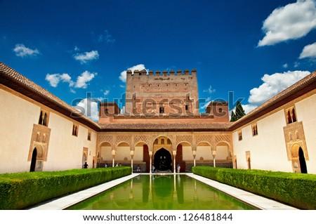 Palacio Nazaries, Alhambra, Granada, Spain - stock photo