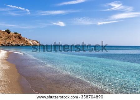 Palaiochori beach, Milos island, Cyclades, Greece - stock photo