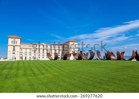 Palais du Pharo in a summer day  in Marseilles, France - stock photo