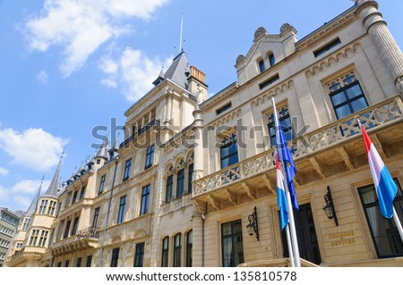 Palais Grand-Ducal in the City of Luxembourg - stock photo