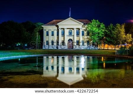 Palais of Prince Charles - prinz Carl - during night Munich Bavaria, Germany - stock photo