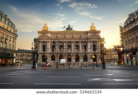 Palais or Opera Garnier & The National Academy of Music in Paris, France.