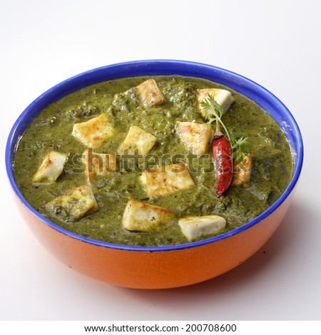 Palak Paneer, India - stock photo