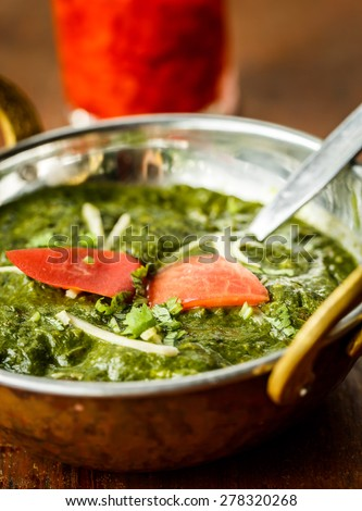Palak paneer. Indian dishes - stock photo