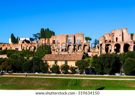 Palatine Hill in Rome Italy