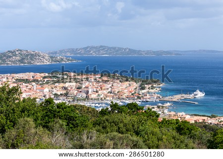 PALAU, SARDINIA/ITALY - MAY 21 : View down to Palau in Sardinia on May 21, 2015