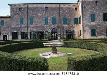 Palazzo Gonzaga-Guerrieri seat of the town council  in Volta Mantovana, Italy