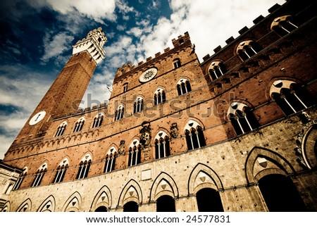 Palazzo Pubblico in Siena - stock photo