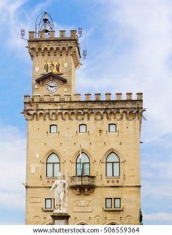 Palazzo Pubblico is the seat of the government of San Marino, Italy