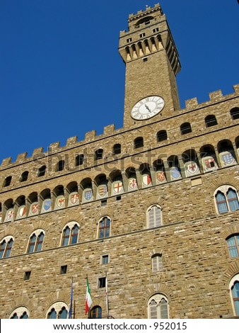 Palazzo Vecchio at Florence, Italy