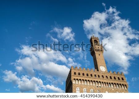 Palazzo Vecchio, Florence, Italy  - stock photo