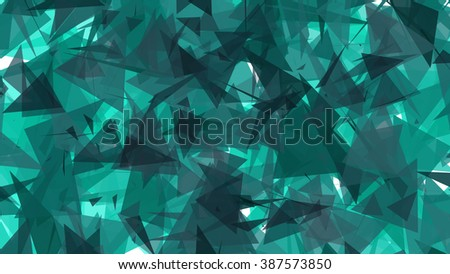 Pale Blue Lowpoly Triangles Background 2D Illustration - stock photo
